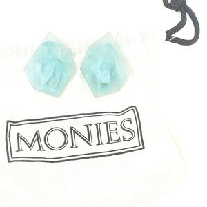 Monies Lucite Translucent Statement Earrings